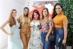 As influencers Babi Oliver, Marilia Alves, Jessika Dantas, Gleyci Martins e Maju Martyns