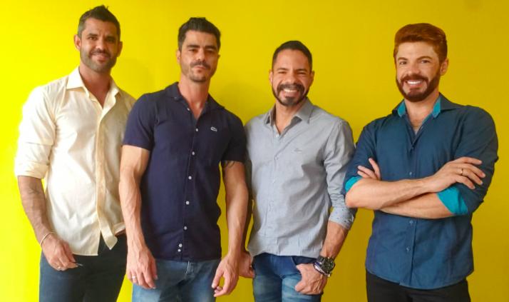 Warlei Xavier, Huander Leão, Mauricio Dorninger e Fernando Messias